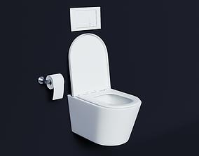 modern toilet 3D model PBR