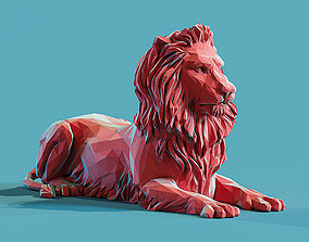 3D printable model Lion 3 Low poly Papercraft