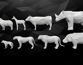 3D Printable Low-Poly Animals Pack