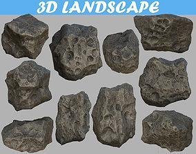 3D model Low poly mexteor