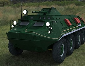 3D asset BTR-60