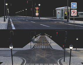 3D Road and busstop