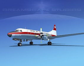 Convair CV-580 Swissair 3D model