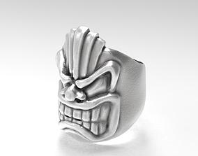 3D print model Tiki God ring
