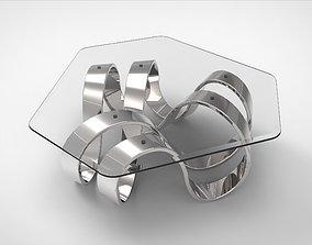 3D model Mobius Trefoil Knot Coffee Table II