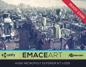 3D asset NECROPOLY Graveyard Exterior Kit LODs