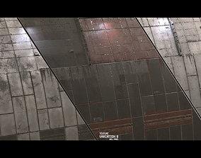 3D Scifi Wall Panel Texture Set D