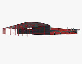 Recycling And Waste Sorting Building 3D model building