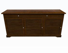3D model Brown cabinet