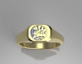 Blue Power Ranger Signet Ring 3D print model