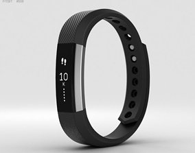 Fitbit Alta Black-Silver 3D model