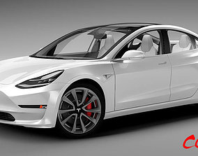 Tesla Model 3 3D electric