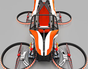 construction Quadcopter flying vehicle 3D model
