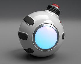 3D asset Stylized Sci-Fi Grenade