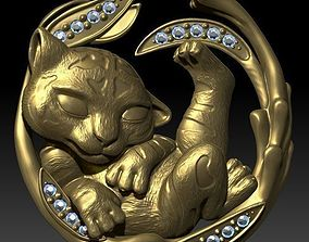 3D printable model baby tiger magerit pendant
