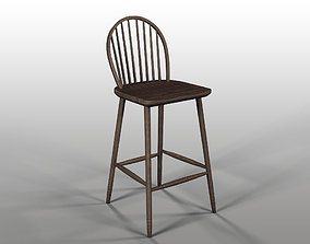 3D Restoration Hardware - 18TH C BOW BACK WINDSOR STOOL