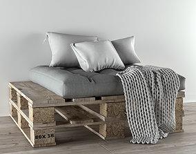 comfort Pallet sofa 3D