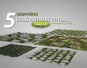 Seamless Grass Pavement Patterns 3D model