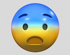 Emoji Fearful Face 3D