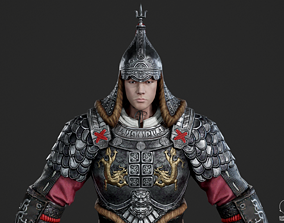 Ancient Chinese general armor Generals of Ming 3D asset 1