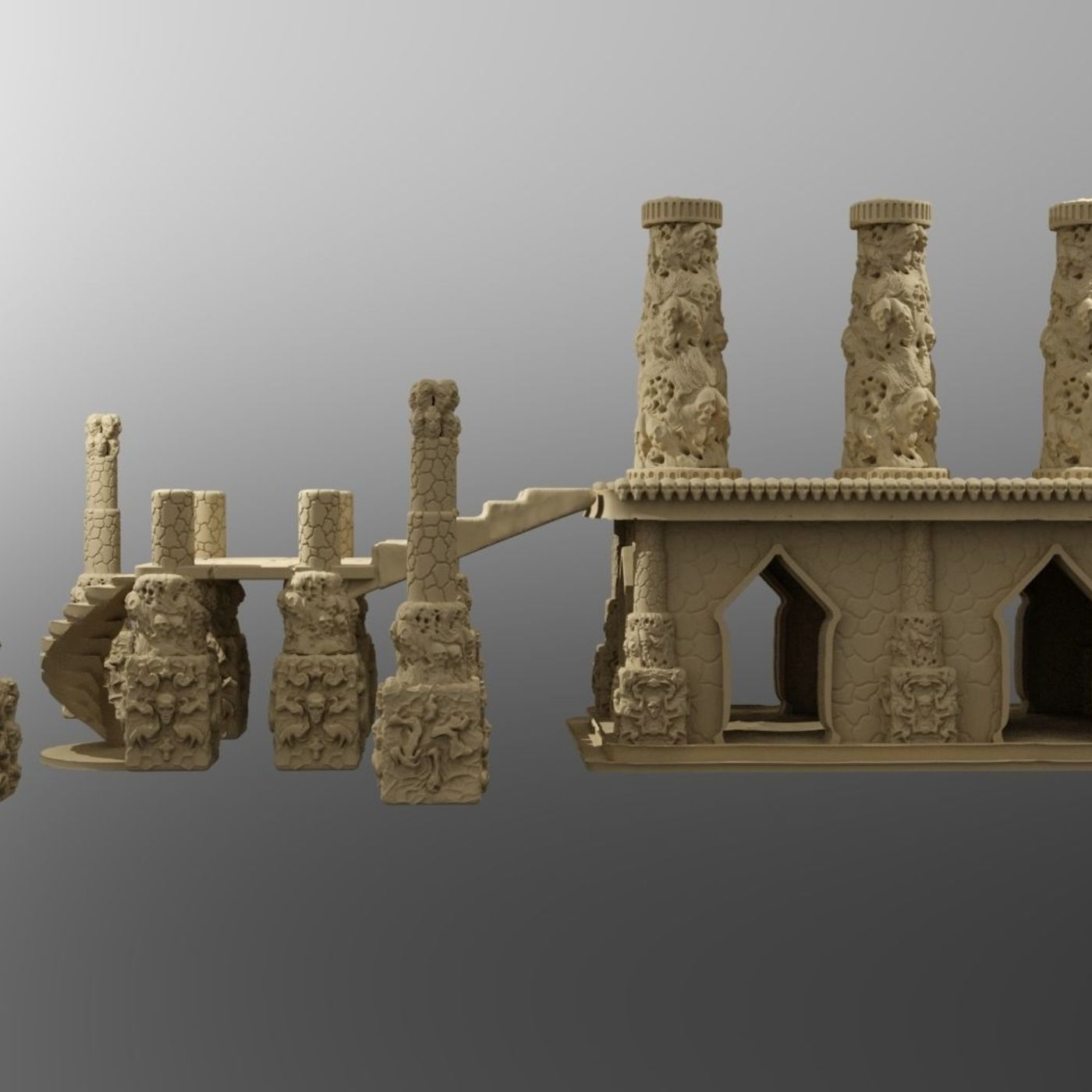 photograph relating to Printable Scenery known as Temple of the Demon King Printable Surroundings CGTrader