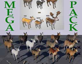 3D 20 DEER TYPES - MEGAPACK