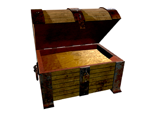 3D model Treasure Chest - Open and Closed - Open