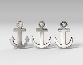 3D print model 3D asset Anchor pendant