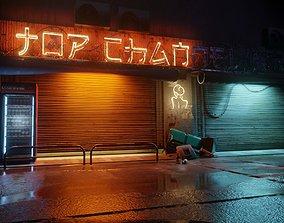cyber punk street 3D