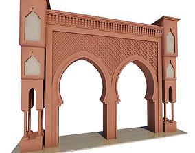 3D model Traditional Moroccan Door Fes City 2
