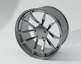 3D model realtime Sport Car Wheel