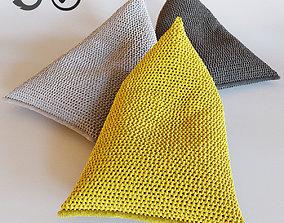 NEST knitted bean bag 3D model