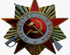 Soviet Star Badge 3D asset