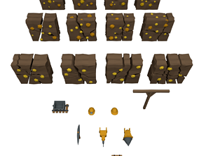 low-poly Miner Asset