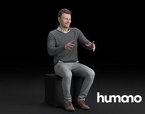3D model Humano Sitting man 0617