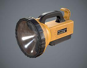Flashlight Spotlight Yellow 3D model