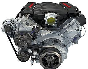 3D model Black Cover Chevrolet Corvette Engine
