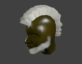 Hairstyle albino Iroquois 3D model low-poly