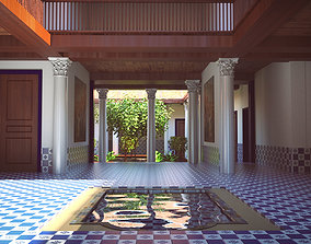 3D Simply pseudo Roman vila