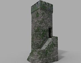 3D model Old Medieval Tower
