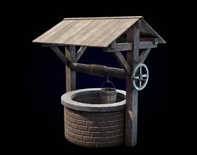 Medieval Brick Water Well 3D asset