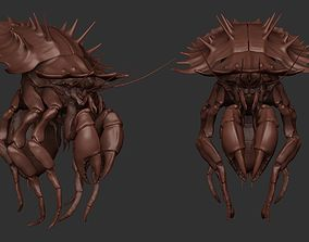 claw 3D Crab Monster Highpoly