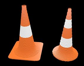 Traffic Cone Pack voxel 1 3D