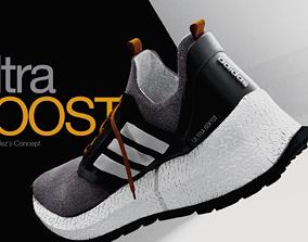 3D model Adidas ULTRABOOST concept running shoe