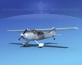 3D Cessna 170 Bare Metal