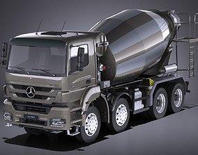 Mercedes-Benz Axor 3240B Cement Mixer 2017 VRAY 3D model