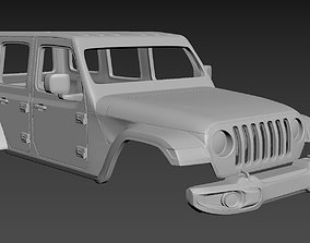 Jeep Wrangler Unlimited 2019 Body for print
