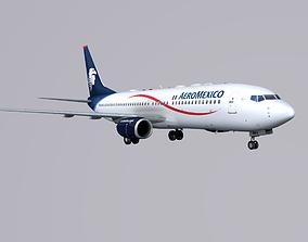 3D asset Boieng 737-800 Aeromexico