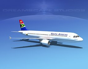 Airbus A320 LP South African 3D asset