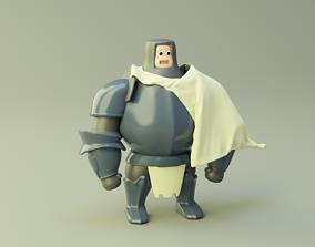 Cartoon Knight MMO 3D model rigged